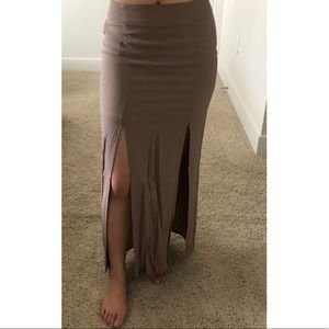 Forever 21 double slit maxi skirt